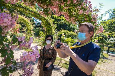 Port du masque obligatoire pour les visites de la Roseraie du Val-de-Marne